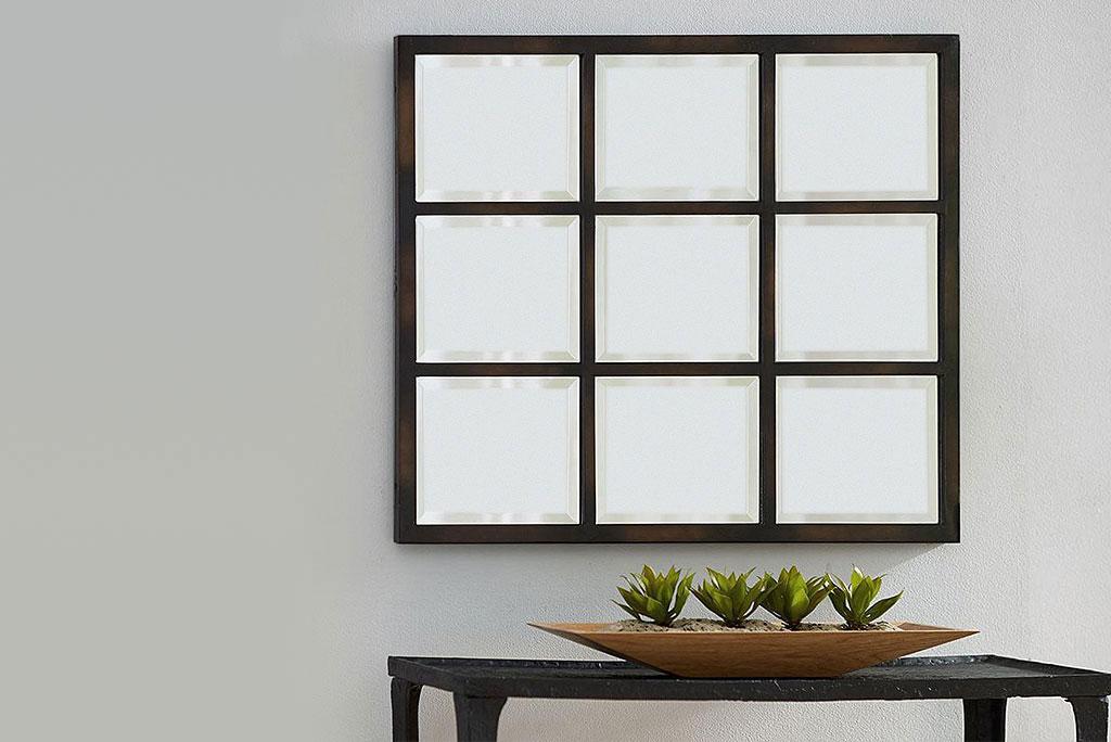 Pottery espejo rectangular