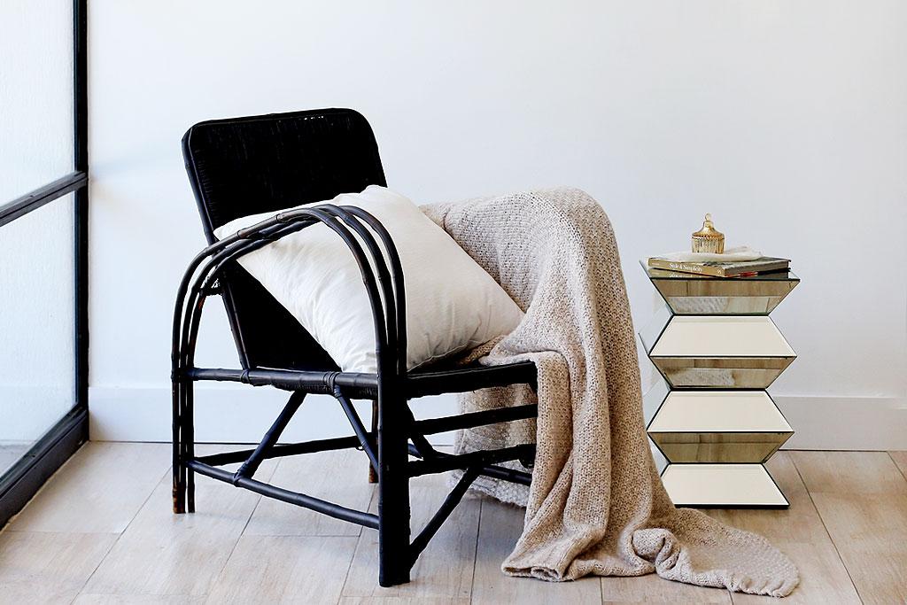 mantas tejidas para sillones