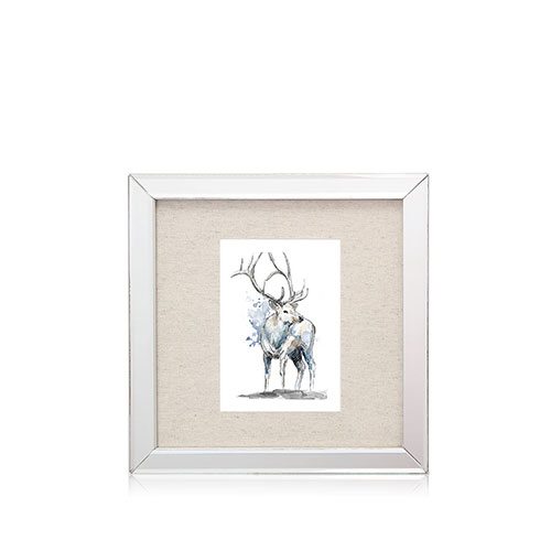 Marco espejado gráfica ciervos