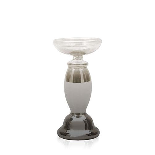 candelabro vidrio gris esfumado