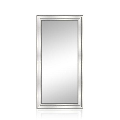 espejo rectangular bicelado triple marco
